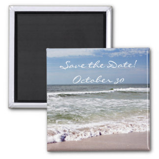 Waves Crash on the Sandy Beach Magnet