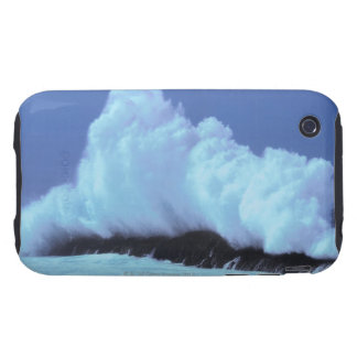 waves crashing against rocks iPhone 3 tough case