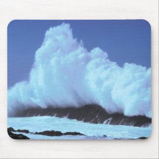 waves crashing against rocks mousepads