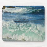 Waves Crashing Big Sur California Painted Mouse Pad