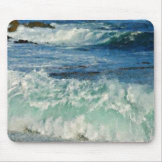 Waves Crashing Big Sur California Painted Mouse Mat