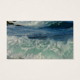 waves-crashing OCEAN WAVES CRASHING SHORE BEAUTY N Business Card