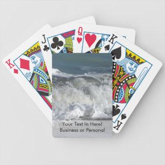 Waves crashing on Florida beach Bicycle Playing Cards