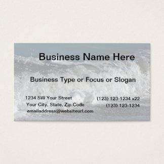Waves crashing on Florida beach Business Card