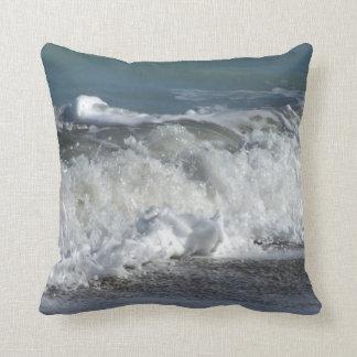 Waves crashing on Florida beach Pillow