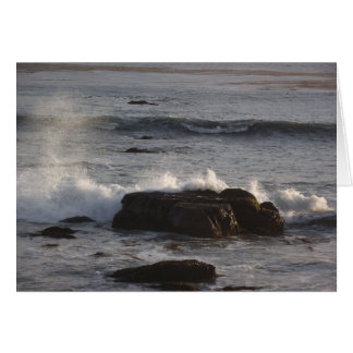 Waves crashing on the rocks card