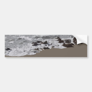 Waves Crashing on to the Beach Bumper Sticker