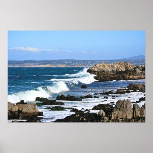 Waves Crashing, Pacific Coast Photo (1 of 2) Poster