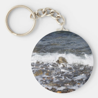 Waves Crashing To The Shore Key Chain