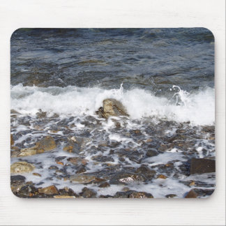 Waves Crashing To The Shore Mouse Pad