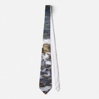 Waves Crashing To The Shore Tie