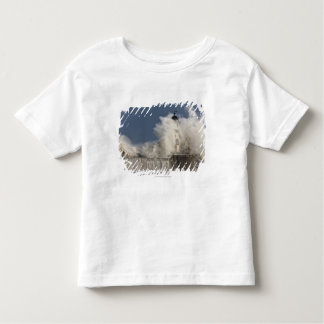 Waves Crashing Up Against A Lighthouse Toddler T-shirt