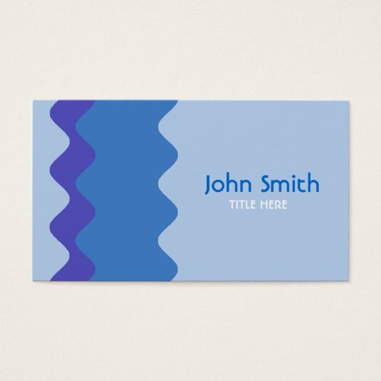 Waves Design Business Card