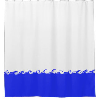 Waves design shower curtain