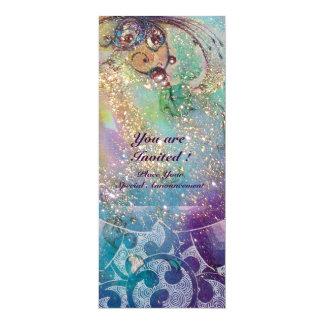 WAVES , Elegant ,Teal, Blue Green Wedding Party Card
