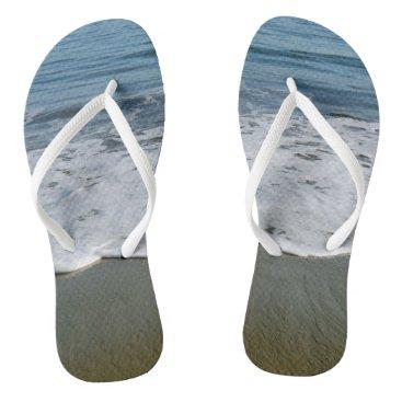 Beach Themed Waves Flip Flops