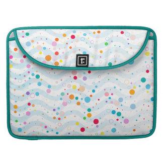 Waves - happy dots- MacBook pro sleeve
