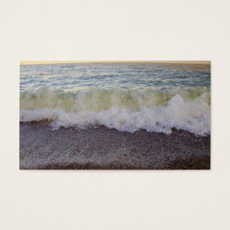 Waves Hitting the Beach Shore 2 Business Card