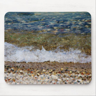 Waves Hitting the Beach Shore Mouse Pad