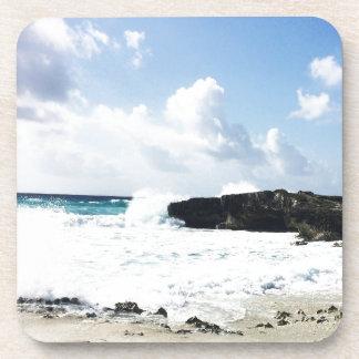 Waves hitting the shore coaster