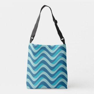 waves, illustration, decorative, modern, cool, crossbody bag