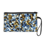 Waves in colors wristlet purse