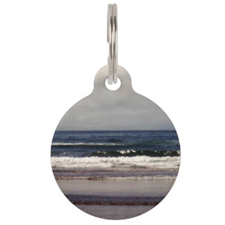 Waves in the Pacific Ocean Pet Name Tag