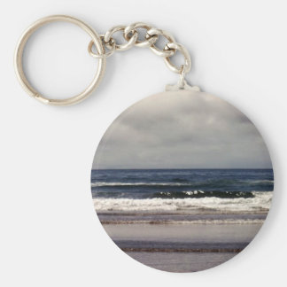 Waves in the Pacific Ocean Basic Round Button Keychain