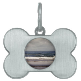 Waves in the Pacific Ocean Pet Name Tags