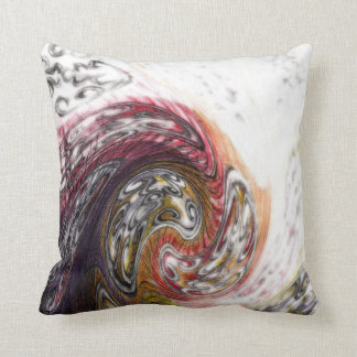 WAVES in WATERCOLOR Throw Pillow