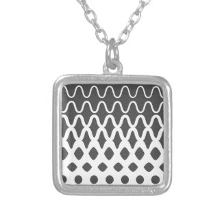 Waves into Particles Silver Plated Necklace