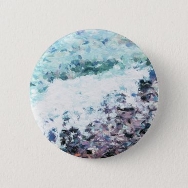 Waves lap at the shore - painting - art gift - abs button