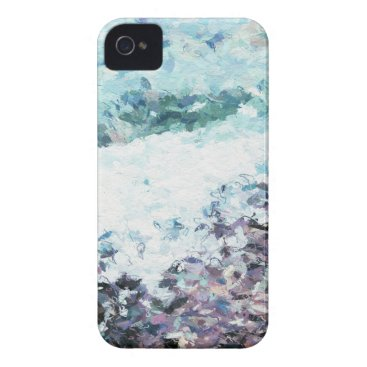Waves lap at the shore - painting - art gift - abs iPhone 4 case