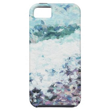 Waves lap at the shore - painting - art gift - abs iPhone SE/5/5s case