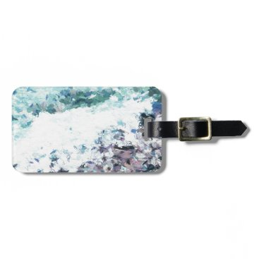 Beach Themed Waves lap at the shore - painting - art gift - abs luggage tag