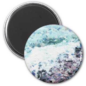 Waves lap at the shore - painting - art gift - abs magnet