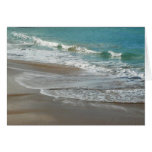 Waves Lapping on the Beach Card