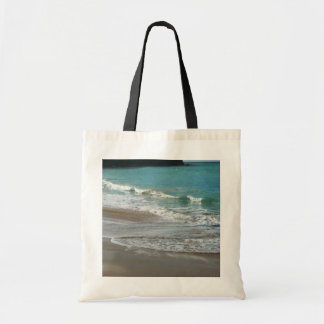 Waves Lapping on the Beach Tote Bag