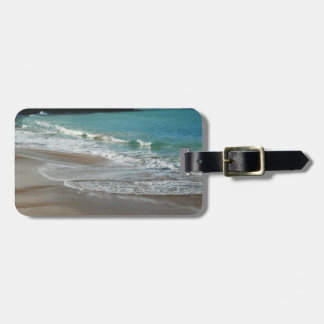 Waves Lapping on the Beach Turquoise Blue Ocean Bag Tag