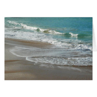 Waves Lapping on the Beach Turquoise Blue Ocean Card