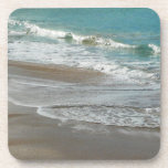 Waves Lapping on the Beach Turquoise Blue Ocean Coaster