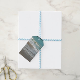 Waves Lapping on the Beach Turquoise Blue Ocean Gift Tags