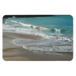 Waves Lapping on the Beach Turquoise Blue Ocean Magnet