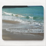Waves Lapping on the Beach Turquoise Blue Ocean Mouse Pad