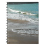 Waves Lapping on the Beach Turquoise Blue Ocean Notebook