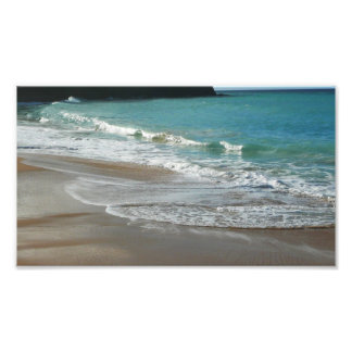 Waves Lapping on the Beach Turquoise Blue Ocean Photo Print