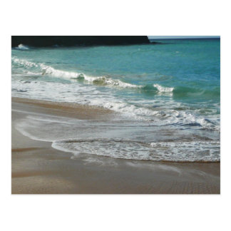 Waves Lapping on the Beach Turquoise Blue Ocean Postcard