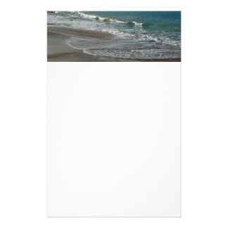 Waves Lapping on the Beach Turquoise Blue Ocean Stationery