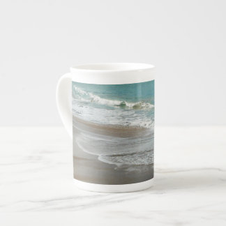 Waves Lapping on the Beach Turquoise Blue Ocean Tea Cup