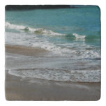 Waves Lapping on the Beach Turquoise Blue Ocean Trivet